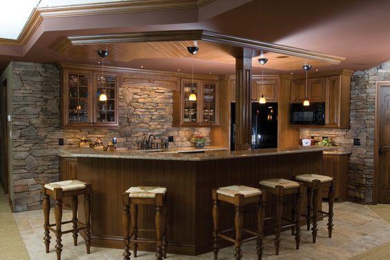Rustic Kitchen Stone Backsplash Kitchens Baths Pinterest Basement