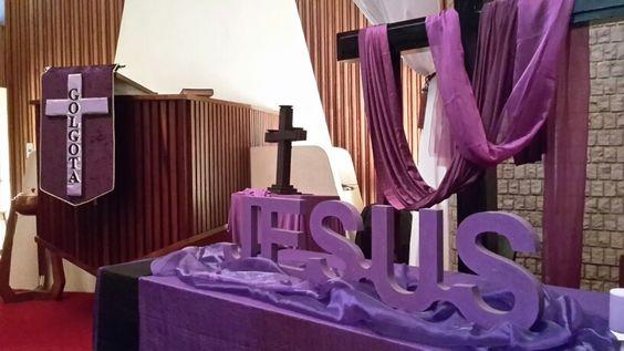 Good friday church decor pinterest