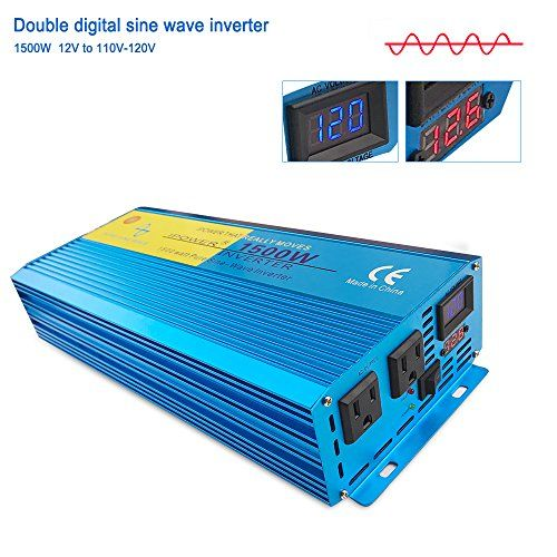 FlowerW Pure Sine Wave Power Inverter 1500W DC 24V to AC 230V//240V Converter AC Outlets Car Inverter with LCD Display for RV Truck Car Home Use-Peak Power 3000 Watt