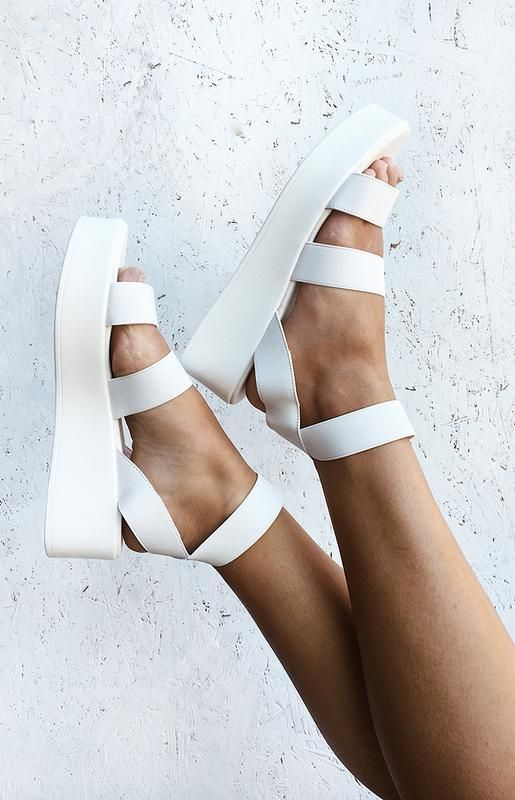 Therapy Rafter Platform Sandal White