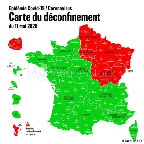 Carte Du D Confinement En France Partir Du 11 Mai 2020 Ad Confinement En Carte In 2020 Wedding Invitation Templates Invitation Template Wedding Invitations