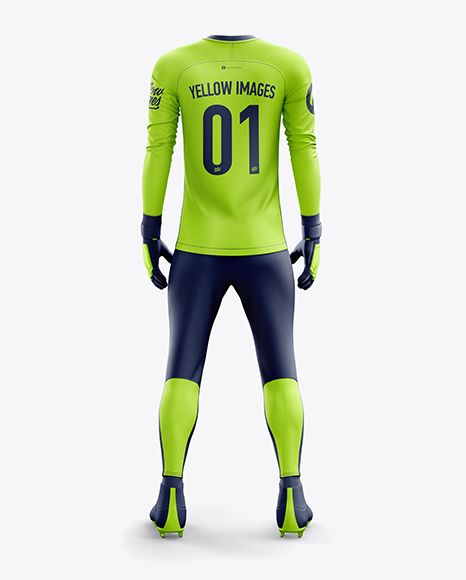 Download Men S Full Soccer Goalkeeper Kit With Pants Mockup Back View In Apparel Mockups On Yellow Images Object Mockups Clothing Mockup Goalkeeper Kits Shirt Mockup