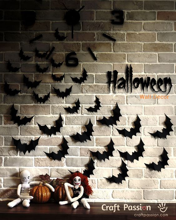 Decorating Ideas > Bats Flying Wall Decor  Halloween DIY  Wall Decor, Wall  ~ 214210_Halloween Decoration Ideas Templates