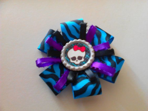 Kids Character BowMonster High by BombshellBeauty2013 on Etsy, $5.00