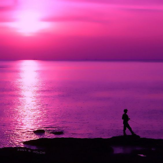 Beautiful plages and photographie de coucher de soleil on pinterest - Coucher de soleil rose ...