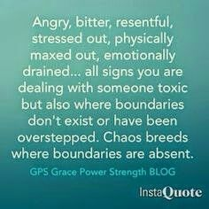 Chaos breeds where boundaries are absent.