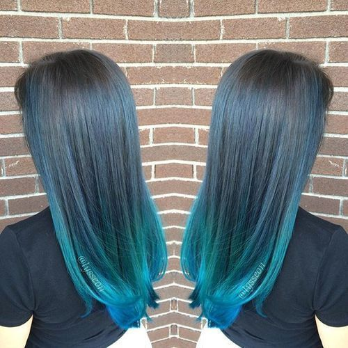 40 Fairy Like Blue Ombre Hairstyles Blue Ombre Hair Blue Tips