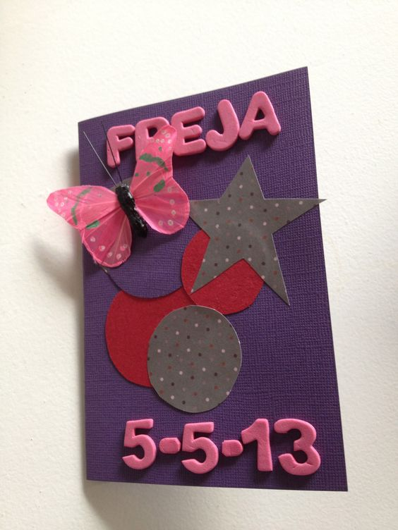 Homemade card for young girls confirmation