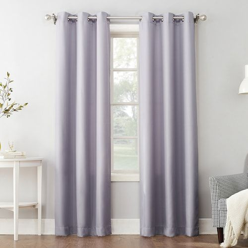 The Big One Decorative 2 Pack Solid Window Curtains Solid