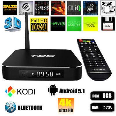 T95 4K Android 5.1 Amlogic Quad Core KODI XBMC HD 1080P 2GB/8GB Smart TV BOX https://t.co/5aRURyeicn https://t.co/IHxmcR7JhP
