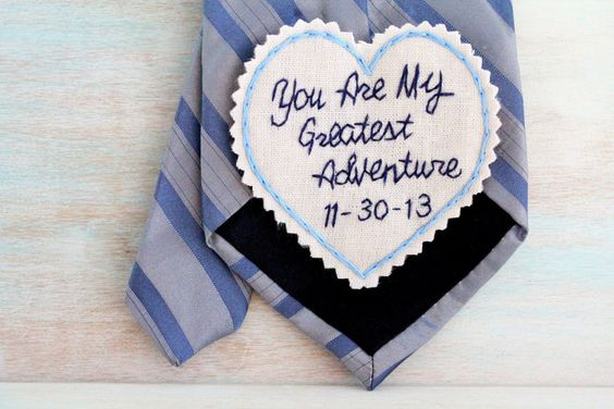 Cotton Wedding Anniversary Gift Ideas For Him : Anniversary Gift. 2nd Anniversary Cotton. Tie Patch. Gift for Him ...
