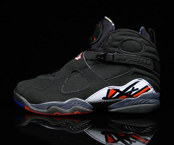 Mens Air Jordan 8 VIII) Retro Black shoes