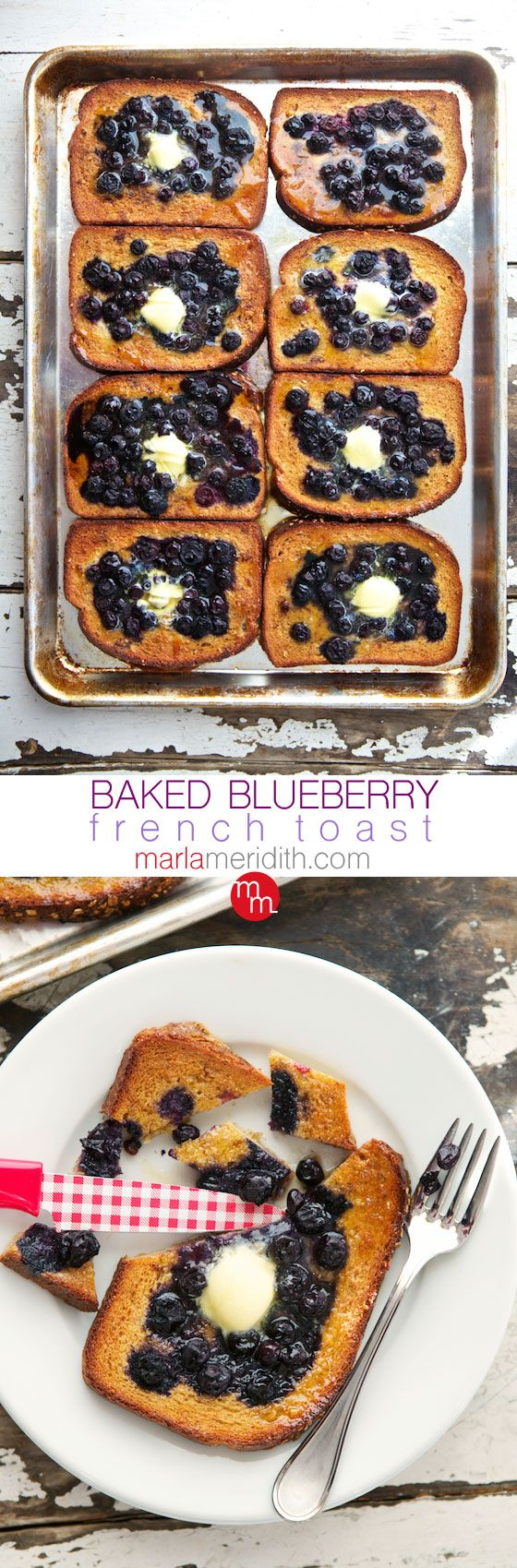 Baked Blueberry French Toast | A family favorite! MarlaMeridith.com