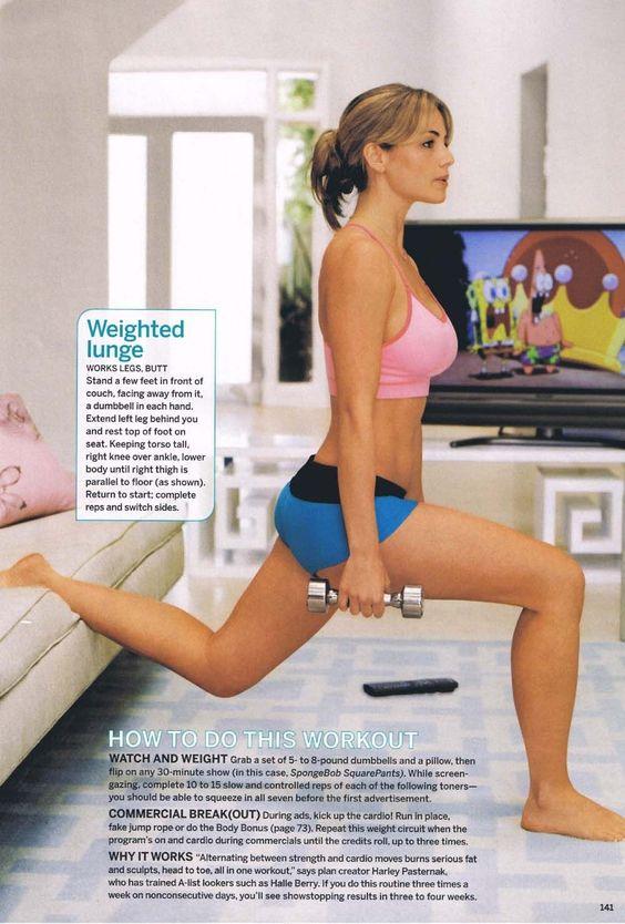 Erica Durance workout!