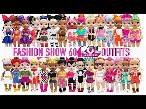 Play Doh 60 Baby Alive Fashion Show L O L Surprise Doll Inspired Outfits Youtube Baby Alive Lol Fashion Show