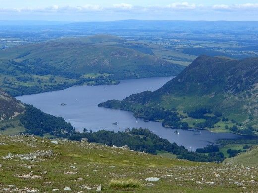 Ullswater's distinctive shape hides many bays and inlets to explore while enjoying a canoe or kayak trip