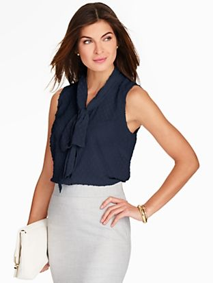 Talbots - Scarf-Tie Blouse | | Misses Discover your new look at Talbots. Shop our Scarf-Tie Blouse for stylish clothing and accessories with a modern twist at Talbots