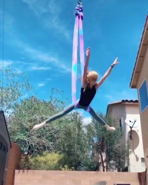 Charlene Hoover On Instagram Another Video From My Circus Tiktok Account Circuscharchar1 Love My Hammock From Aer Acro Yoga Poses Aerial Hammock Aerial Yoga