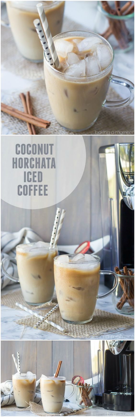 Coconut Horchata Iced Coffee: This iced coffee is so creamy I could hardly believe it was dairy-free.  Loved those hints of coconut, almond, and cinnamon too! #ad