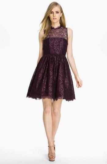 Alice + Olivia 'Ophelia' Lace A-Line Dress