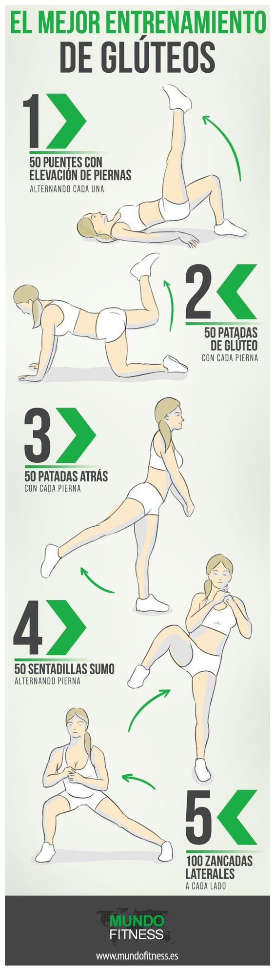 5 ejercicios que puedes hacer en casa para trabajar los glúteos.::