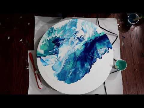 248 Large Ocean Pour Dutch Pour Fluid Art Technique Youtube In