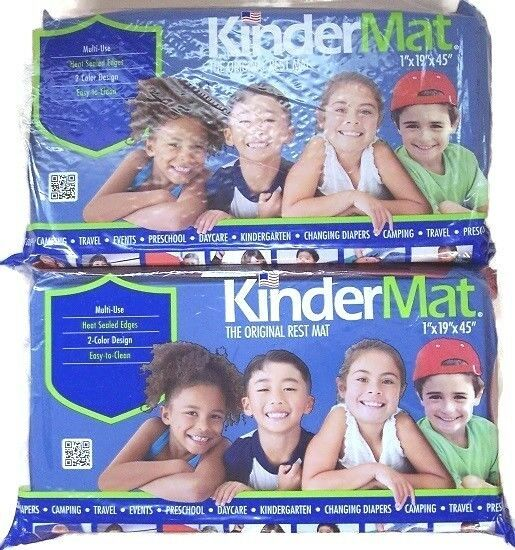 Nap Mats Kinder Tri Fold 4 Panel 1 Inch Red Blue 5 Mil Vinyl New 2 Pack Kindermat In 2020 Kinder Mat Red Blue Preschool