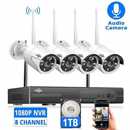 Expandable 8ch Hiseeu Wireless Security Camera System With 1tb Hard Drive With One Way Audio 8 Channel Nvr 4pcs 1080p Photomania Wireless Security Camera System Wireless Home Security Systems Wireless Security Cameras
