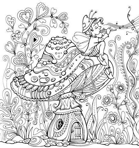 Fairy House Coloring Pages Awesome 1884 Best Coloring Pages Images On Pinterest Garden Coloring Pages Fairy Coloring Pages Coloring Pages