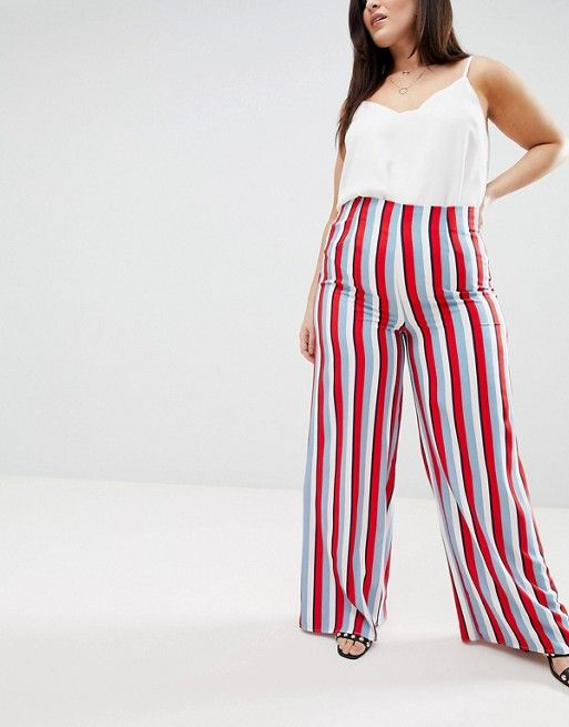 Missguided Plus | Missguided Plus - Pantalon large à rayures