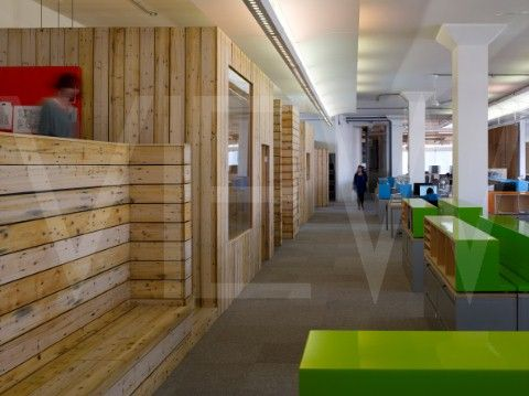 DESIGN COUNCIL LONDON CARL TURNER ARCHITECTS OFFICE REFURBISHMENT GENERAL PERSPECTIVE VIEW OF WORK A