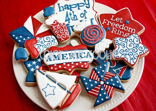 July 4th or Memorial Day Cookies: