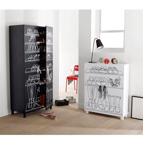 armoire chaussures jusqu 39 42 paires aderfi la redoute. Black Bedroom Furniture Sets. Home Design Ideas