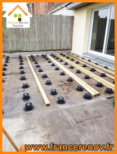 Toiture Terrasse En Pin Sur Plots A Saint Andre Lez Lille Toiture Terrasse Verriere Aluminium Escalier Metallique