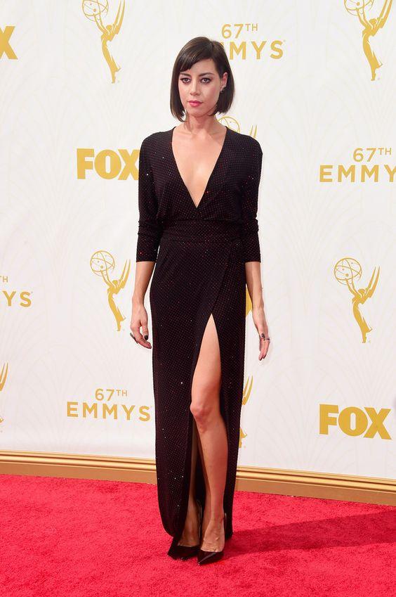 Emmy Awards 2015 Aubrey Plaza   Frazer Harrison / Getty Images