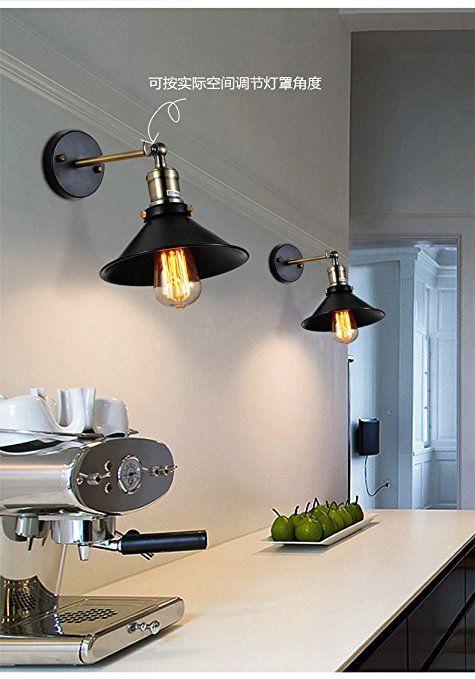Amazon Co Jp Oygroup 工業系 壁掛け照明 ウォールライト 鉄のランプ