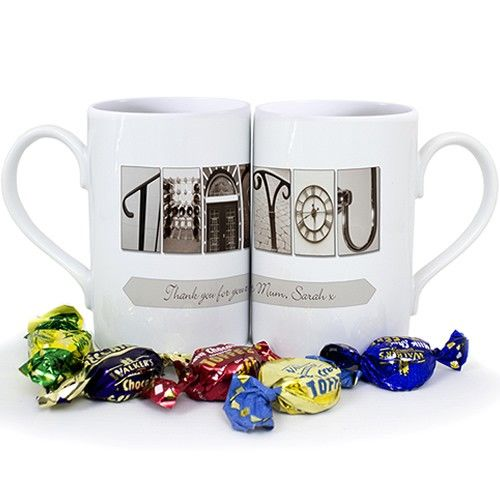 Personalised Affection Art Thank You Mug  from Personalised Gifts Shop - ONLY £9.99