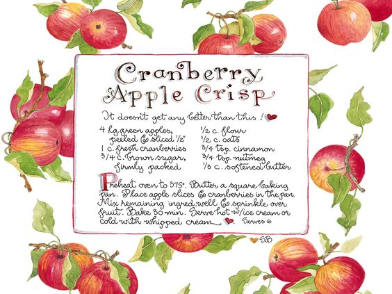 ... cranberry apple and more cranberries branches apples apple crisp