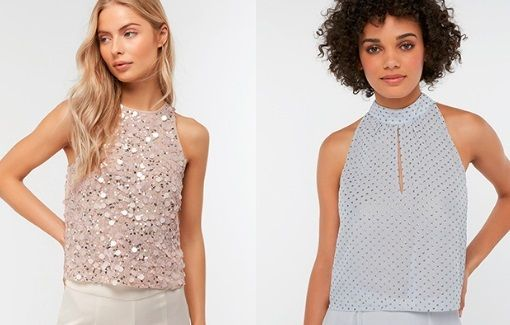 67f1c2e2b387a5 Attain women items from Monsoon store to save at least 15% paying just  £80.00 on Devon Sequin Sleeveless Top.