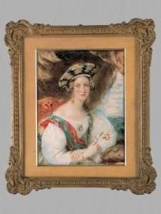 """A Young Lady - 1836  England  Portrait miniature - watercolor on ivory  Artist: Sir William Charles Ross (English, b.1794 d.1860)  4 5/8"""" X 3 1/2""""  Cincinnati Museum of Art:"""
