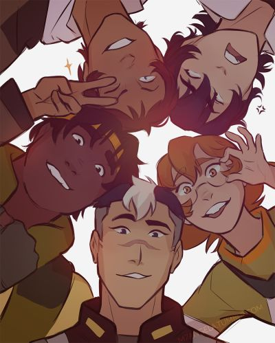 VLD fanart - Team Voltron all for one!