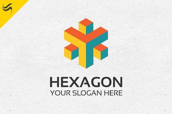 Hexagon Rainbow Color Logo Template by Kennarock on - rainbow template