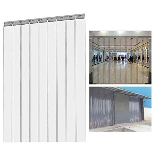 Thermal Insulated Door Curtain Gdming Plastic Strip Curtain Doors Clear Light Transmission Intbuying Commercial Fa In 2020 Door Insulation Door Curtains Strip Curtains