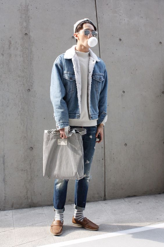 蓝×白穿搭 | 极简小清新蓝白穿搭 | 男生这样穿才能更具吸引力哦