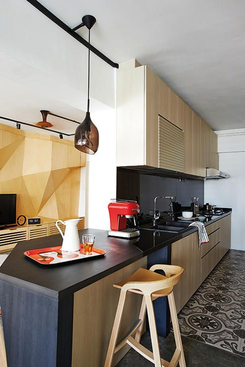 How To Visually Enlarge A Small Kitchen  Singapore Open Concept Best Small Kitchen Interior Design Images Decorating Design