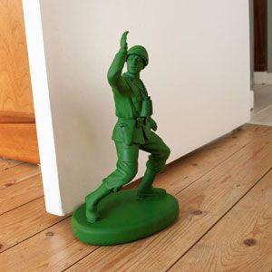Green Army Man Door Stop @dieter