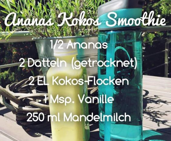 Rezept Ananas Kokos Smoothie (vegan) von Cupcake181 - Rezept der Kategorie Getränke