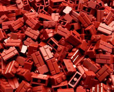 *NEW* 100 Pieces Lego Round Plate 1x1 DARK RED