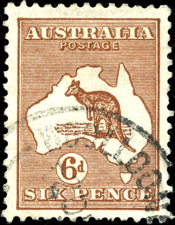 First stamp issues, Australia..