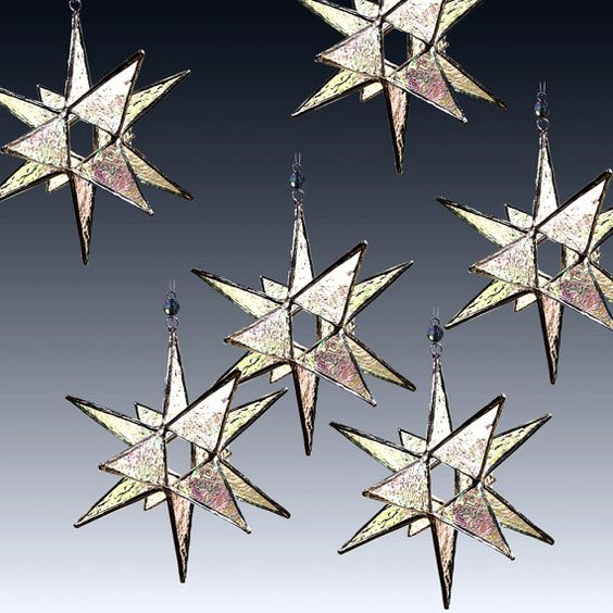 50  Stained Glass Moravian Wedding Stars  Wedding Decor by LAGlass, $600.00  #ibhandmade